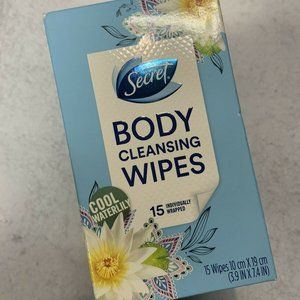 SECRET Body Cleansing Wipes ~ Cool Waterlily ~15
